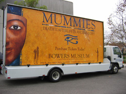 Bowers Museum Mobile Billboard