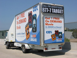 Cox Communications Wedge Mobile Billboards