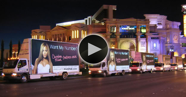 Billboard Express mobile billboards advertising United Online in Las Vegas